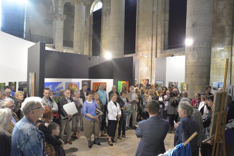 Vernissage de l'exposition de l'atelier d'art à la chapelle Buvignier