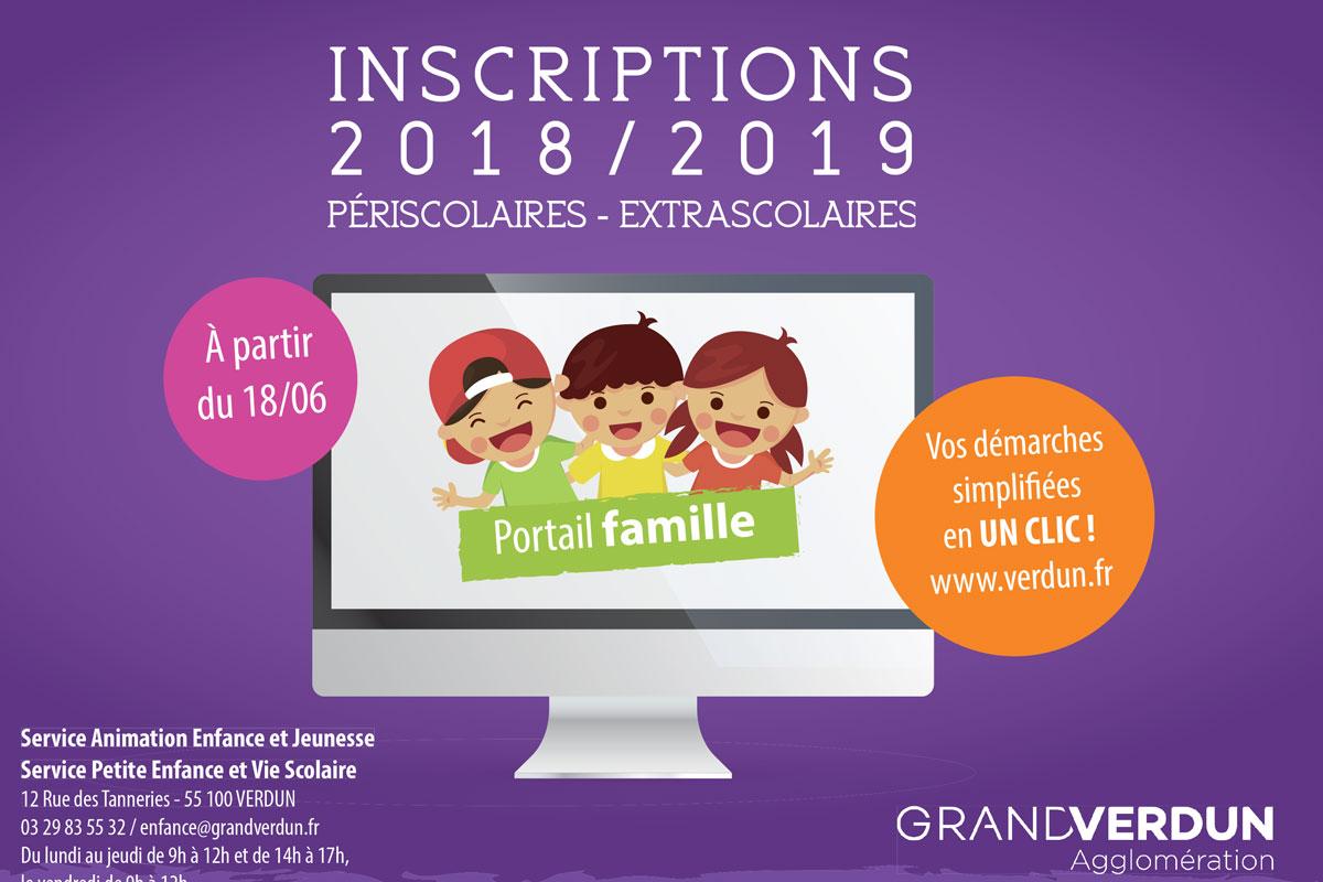 Inscriptions périscolaires et extrascolaires 2018/2019