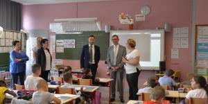 Visite de l'Inspecteur d'Académie à l'école Louise Michel