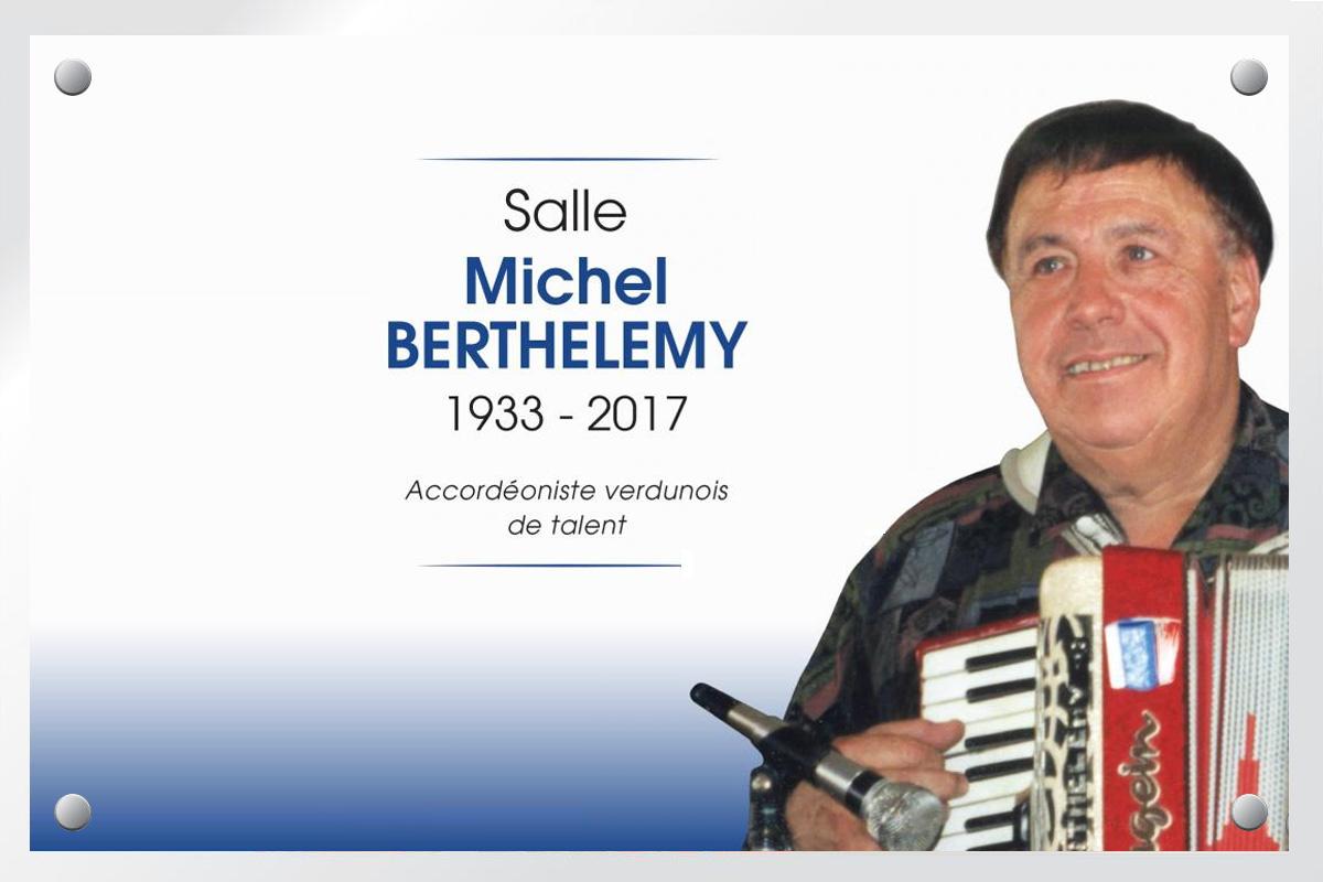 Dénomination de la salle Michel BERTHELEMY