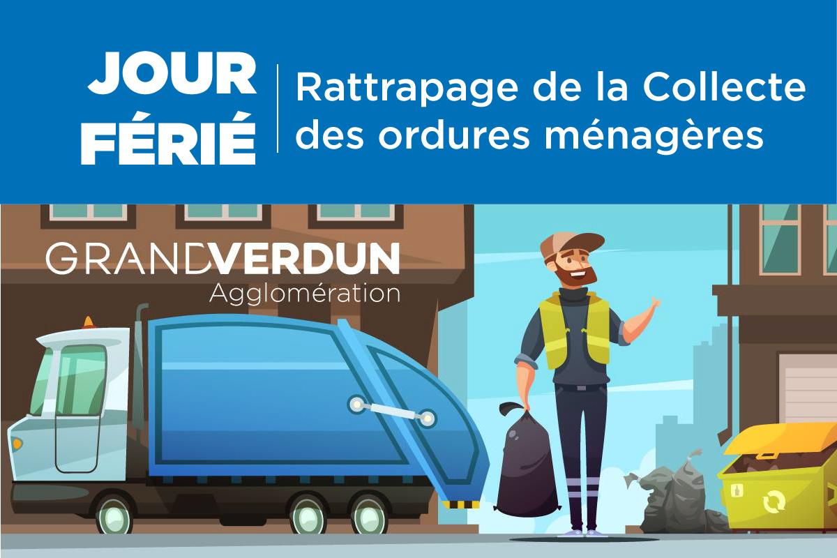 Rattrapage de la collecte des ordures ménagères du 1er et 8 mai 2020