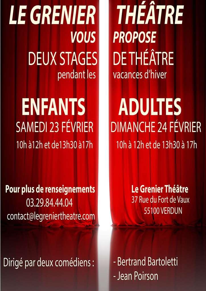 Stages de théâtre