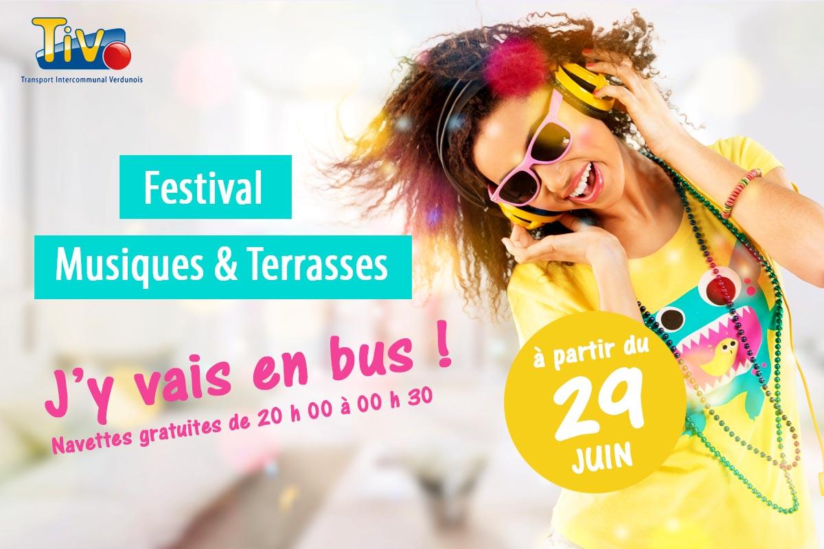 Festival «Musiques & Terrasses» : J'y vais en bus !