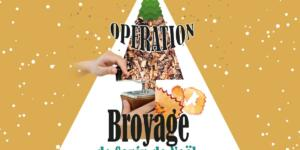 Broyage des sapins de Noël et distribution de broyat