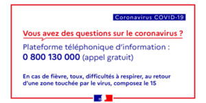 Recommandations face aux arnaques liées au virus Covid-19
