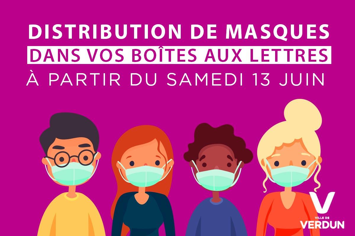 Distribution des masques dans vos boîtes aux lettres