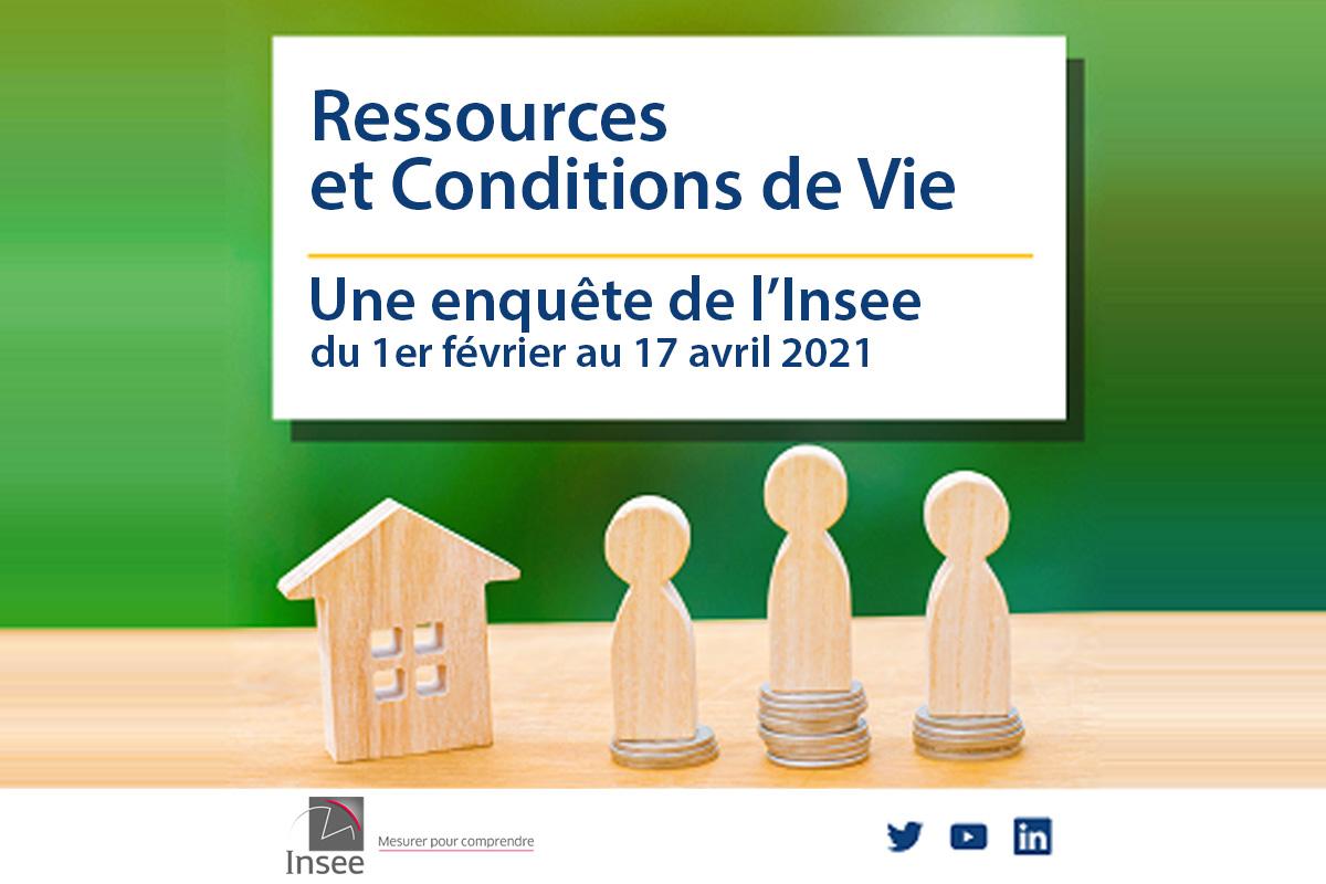 Enquête Insee : sur les ressources et conditions de vie des ménages