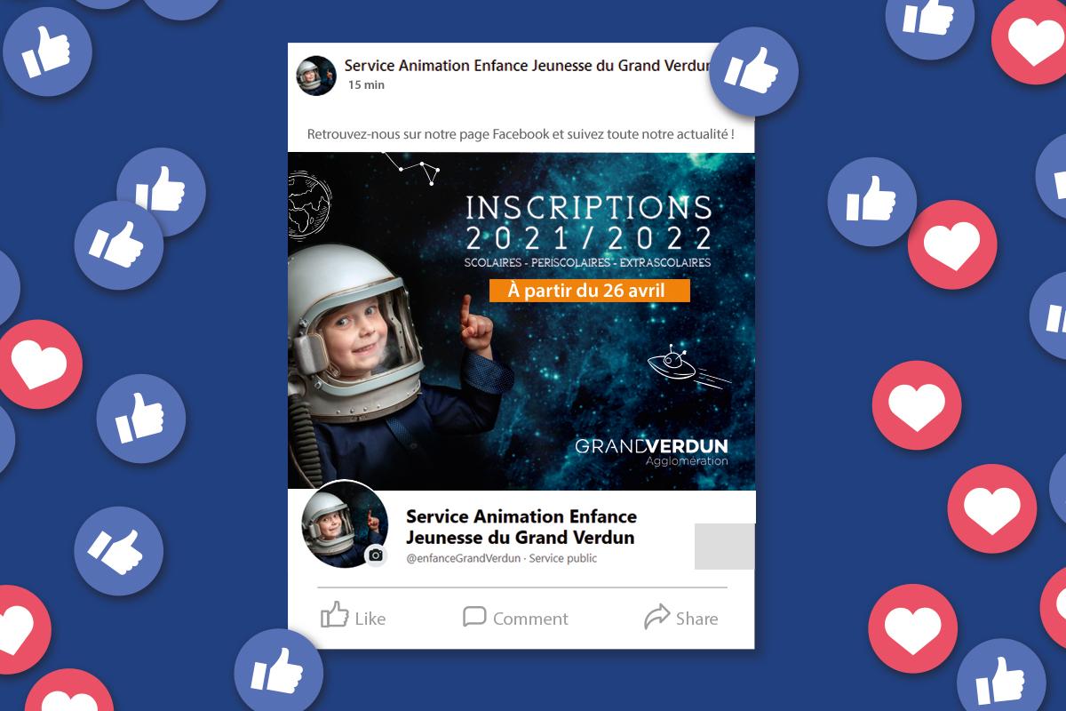 Suivez le Service Animation Enfance Jeunesse du Grand Verdun sur Facebook !