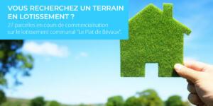Commercialisation de 27 parcelles «Le Plat de Bévaux»