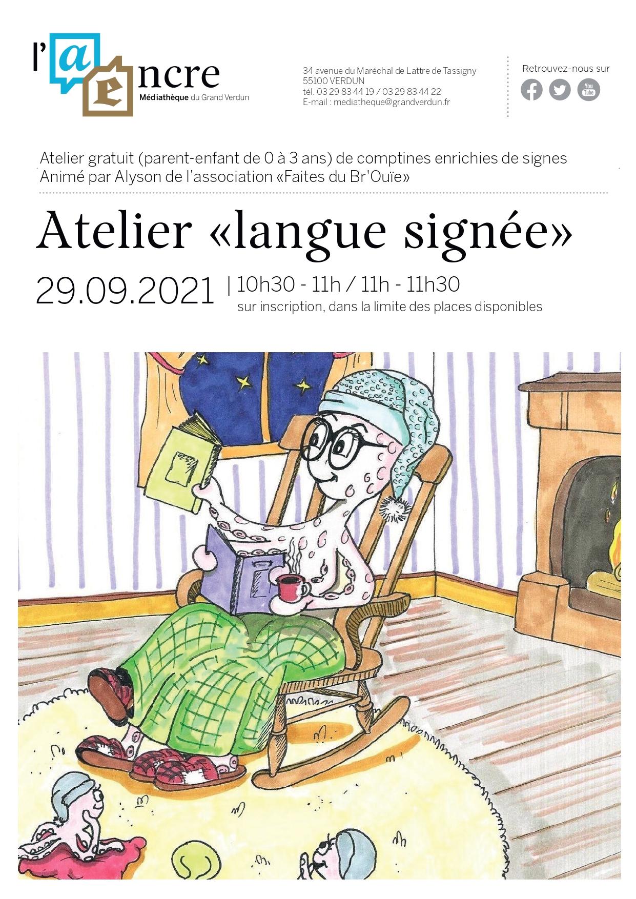 Atelier «Langue signée»