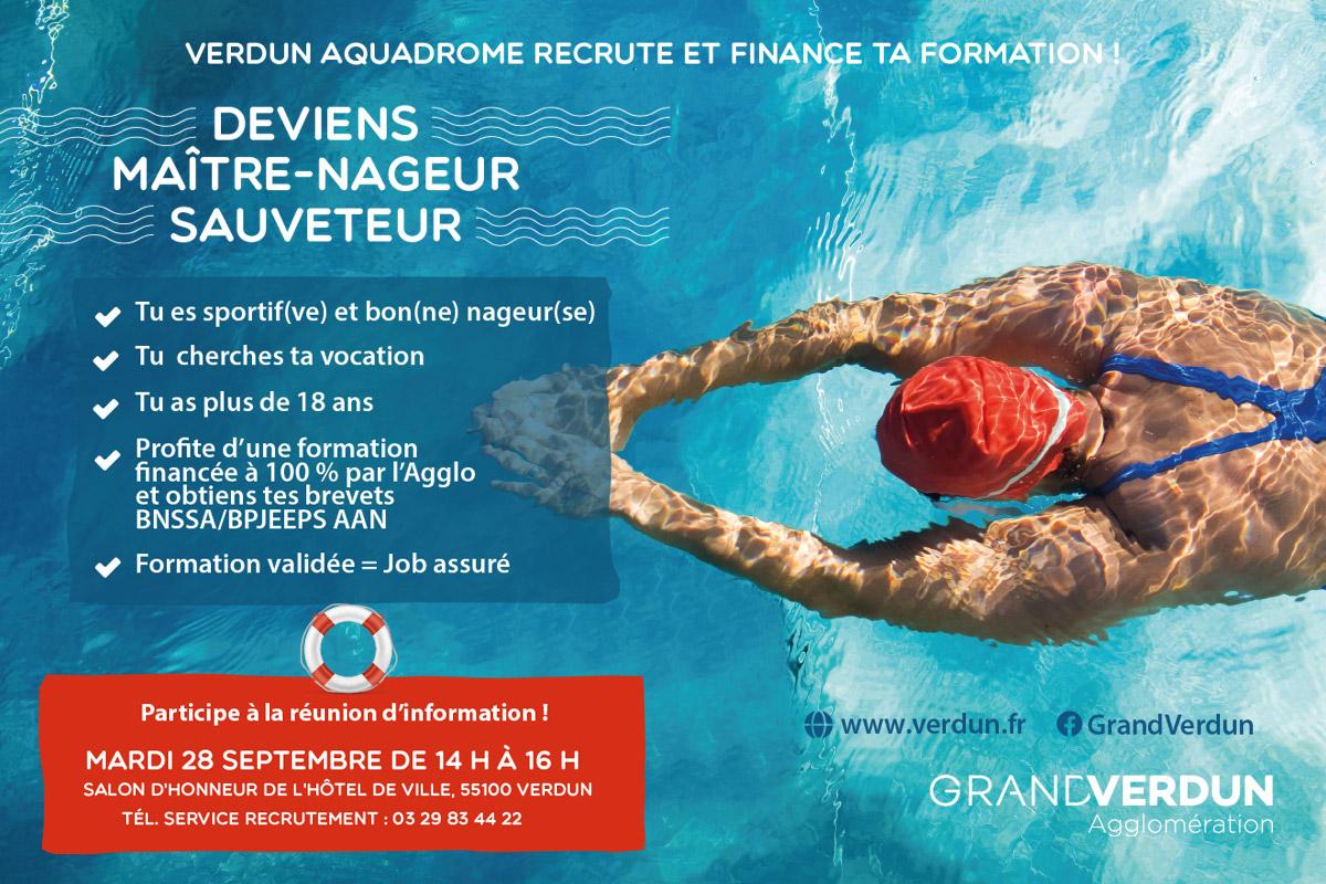 Deviens maître-nageur sauveteur : une formation 100% financée par l'Agglo !